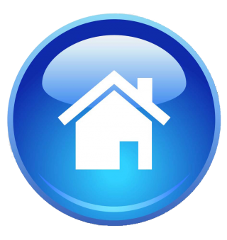blue home page icon png 16
